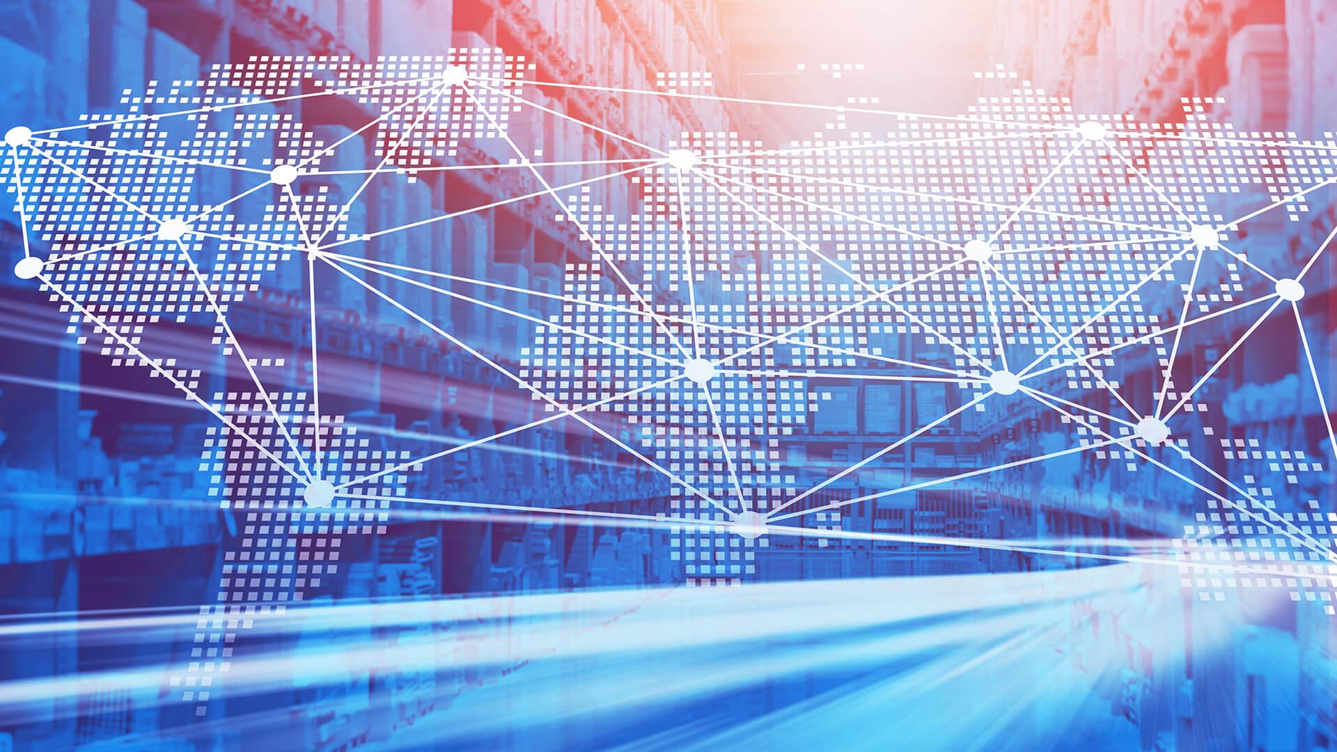 Mock Up weltweite Vernetzung in der Supply Chain