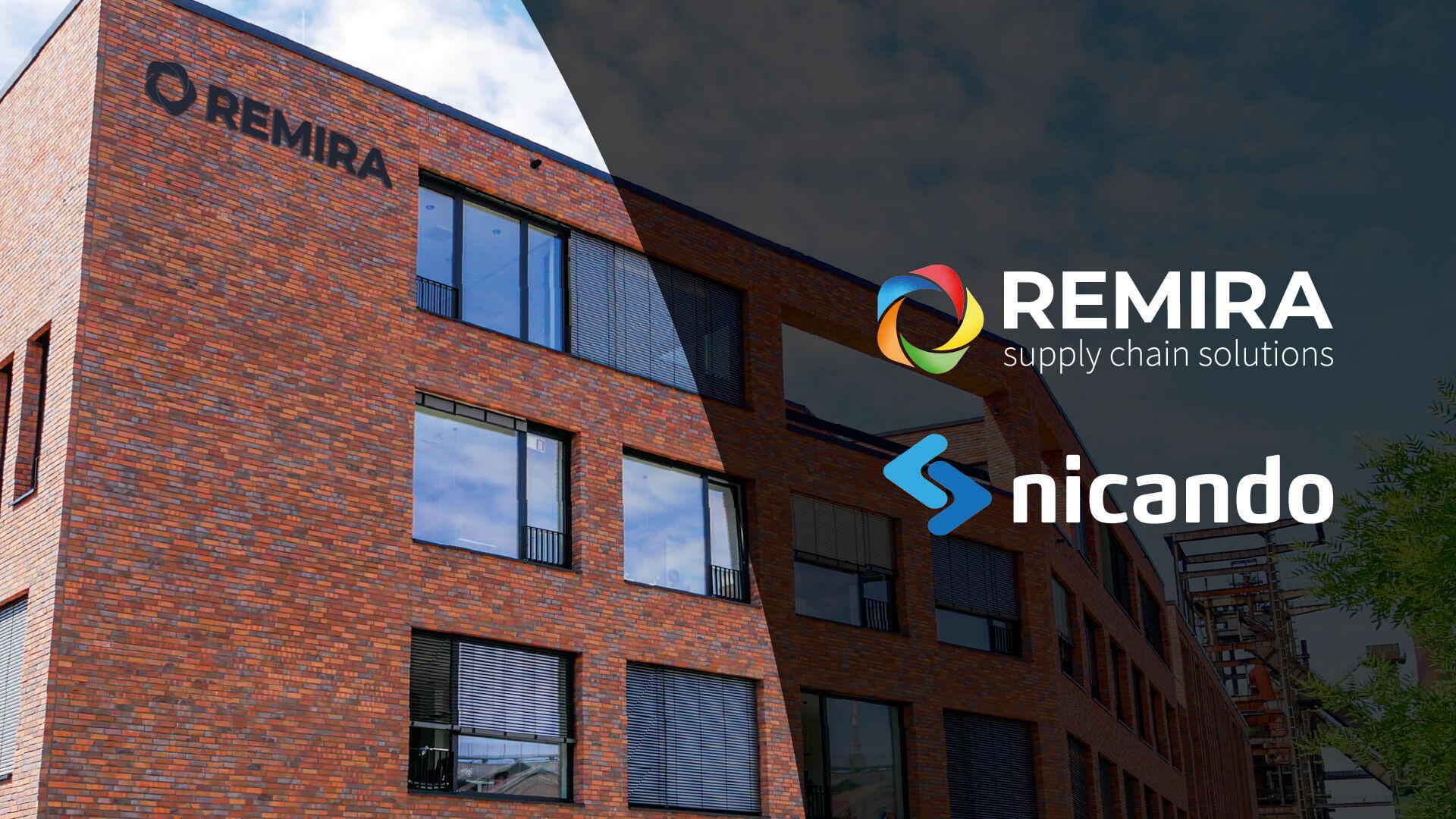 Mock Up REMIRA Gebäude mit REMIRA und Nicando Logo