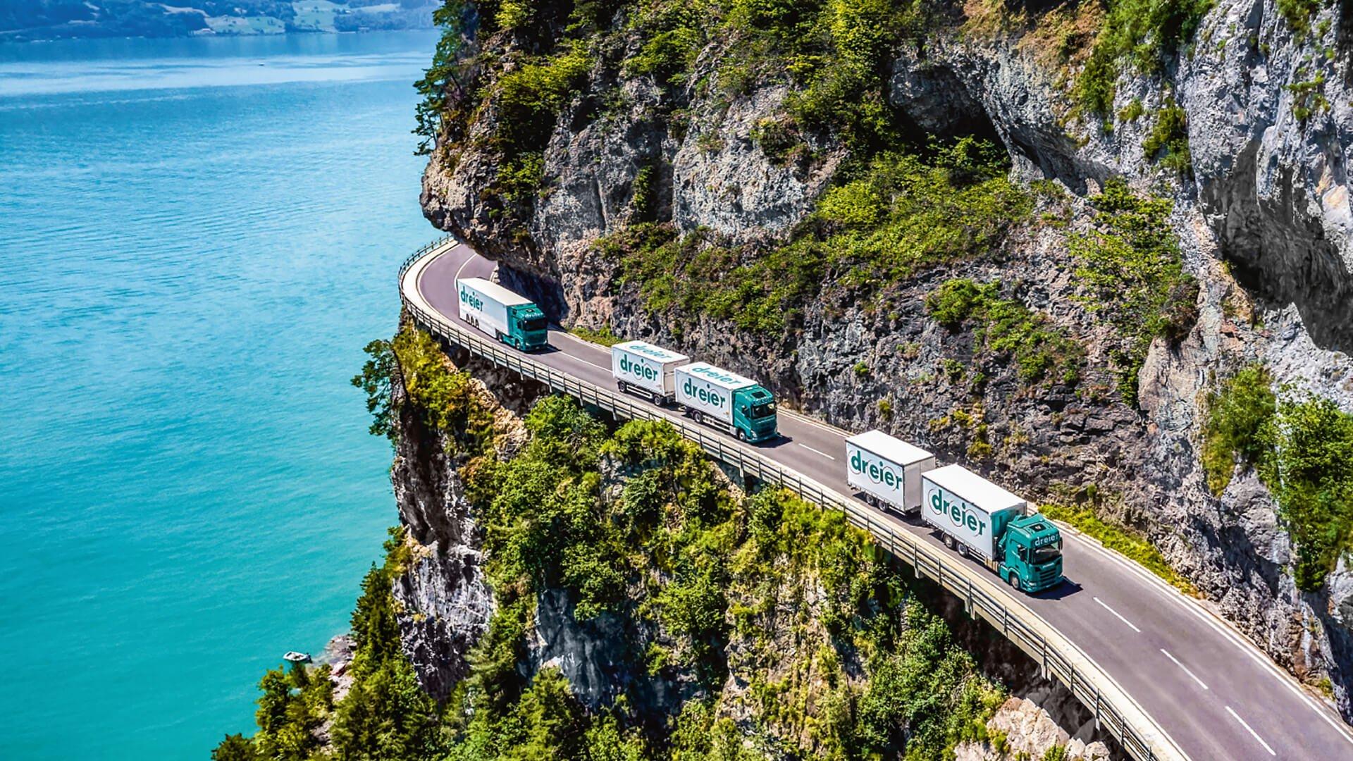 Dreier AG Lastkraftwagen unterwegs