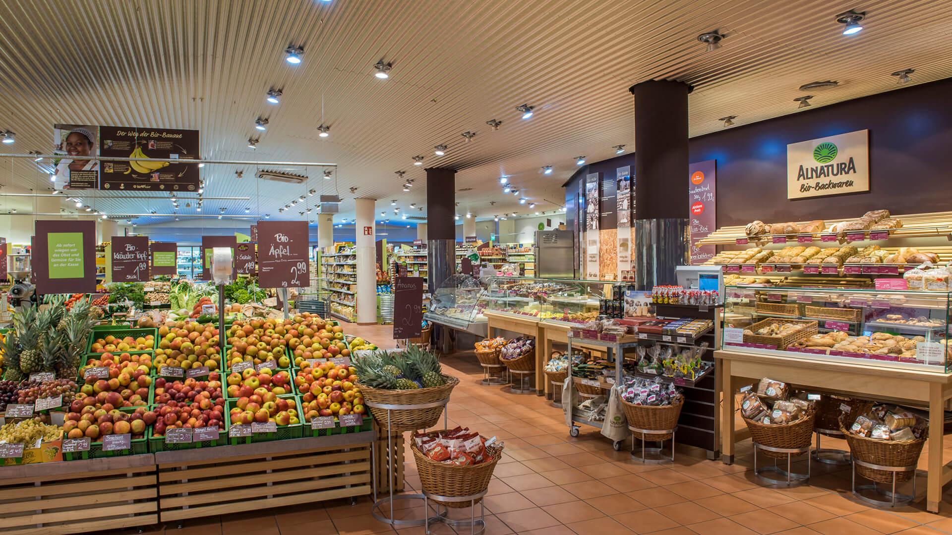 Alnatura supermarket interior view