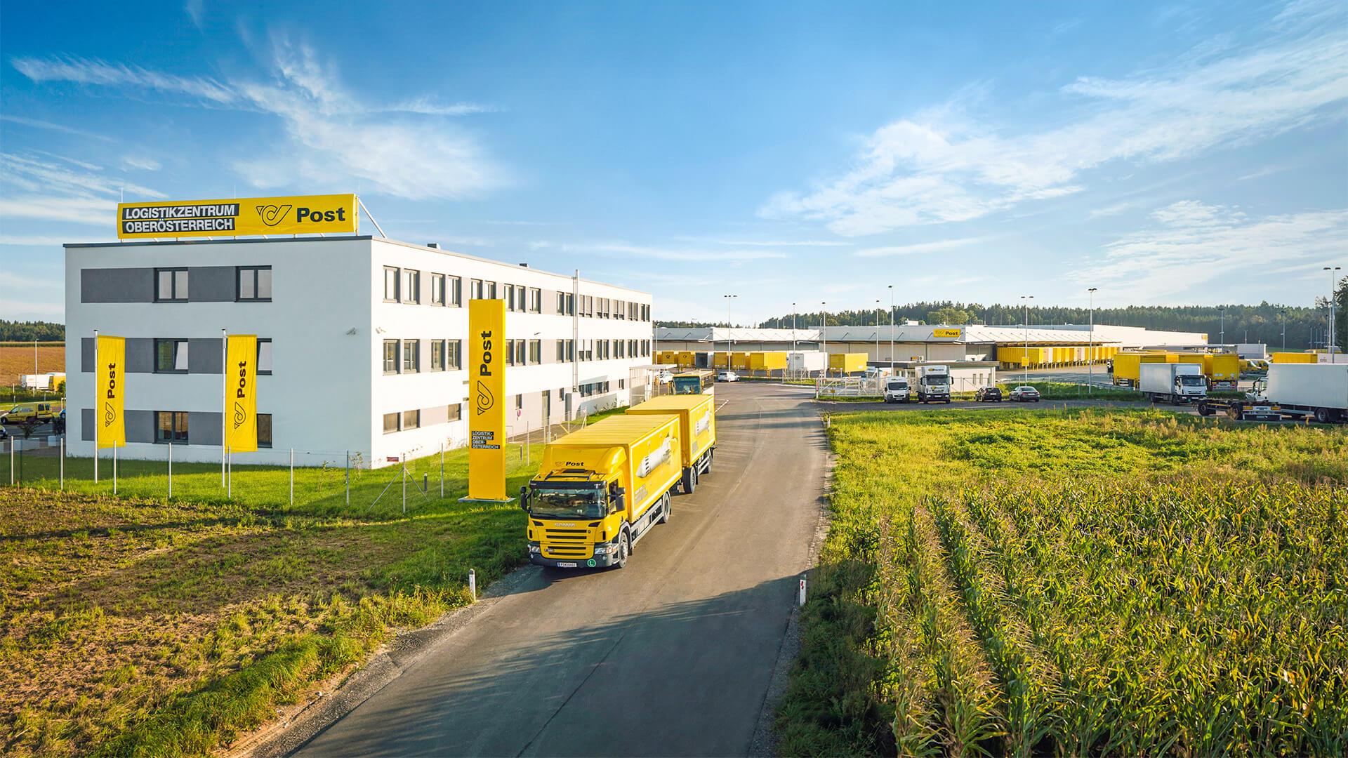 Österreichische Post Logistikzentrum von außen